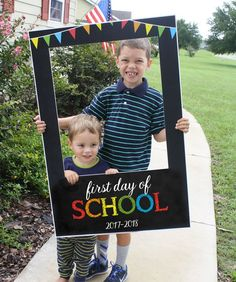 Large Chalkboard Photo Prop for the 1st Day Back to School ***INSTANT DOWNLOAD*** Details on sign: First Day of School 2017-2018 Large sign 24 x 36 size large enough for 2-3 people  NOTE: This listing is an instant digital download. This is a print ready digital file (PDF) you can take the digital files to your local print shop to print, mount and cut to create the back to school photo prop! Back to School Photo Prop – Chalkboard – Teacher Photo Prop – Classroom Sign Photo Prop – Photo Frame