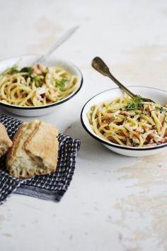 """""""Pidän yksinkertaisista pastoista: pelkkää oliiviöljyä, valkosipulia ja pippuria sekä raastettua parmesaania tai pecorinoa. Tällaista pastaa nuorempi lapse"""