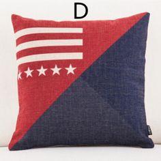 England navy and red geometric plaid pillows Minimalist geometry decorative throw pillows