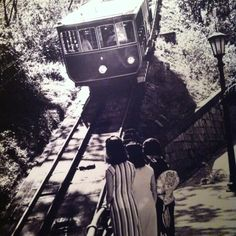 Three Japanese women watching the peak tram.1940s, via Hong Kong Museum of History / photographer unknown