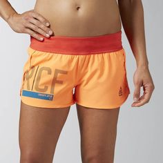 Reebok CrossFit Ass To Ankle Short, shorts, orange, rot, red, Fitness Fashion…