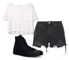"""Untitled #38"" by xxmiriamstylesxx on Polyvore featuring MANGO, Topshop and Converse"