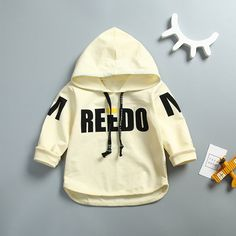 Autumn Baby Boys Cotton Long Sleeve Letter Pullover Hooded Jacket Coat Kids Casual Sweatshirt Outerwear casaco infantil //Price: $18.86 //     ##babyfashion