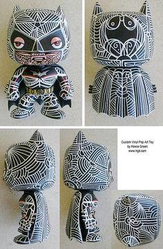 Funko Custom Dark Knight Batman Vinyl Pop Art toy