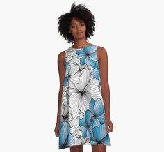 blue flowers pattern by Argunika redbubble.com/people/argunika   #Argunika #redbubble #redbubblecreate #RedbubbleArtist #surfacedesign #surface #dress #tshirt #leggings #zen #psychedelic #boho #bohemian #hippie #boholook #yoga #yogaclothing #yogapants #abstract #bag #zenlife #ornament #дизайнерпринтов #бохо #хиппи #принт