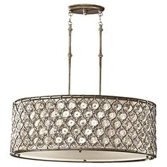 F2569/3BUS,3 - Light Shade Pendant,Burnished Silver