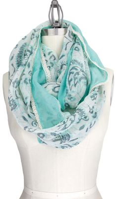 Mint Paisley Scarf