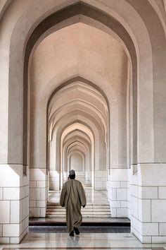Walking Along The Corridor, Muscat, Oman