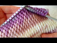 yapımı çok kolay muhteşem örgü modeli - YouTube Easy Knitting Patterns, Knitting Stitches, Stitch Patterns, Crochet Patterns, Knitting Videos, Knitting Projects, Crochet Hooks, Knit Crochet, How To Make Scarf