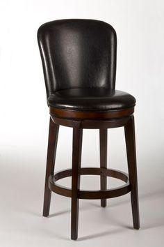 Victoria Swivel Bar Stool - Hillsdale understated, the Victoria Stool is a classic fit for all design aesthetics. Constructed of solid hardwood in a dark brown cherry finish, the Victoria is a straightforward favorite featuring a 360 deg Victoria Wood, Swivel Counter Stools, Kitchen Stools, Bar Counter, Kitchen Dining, Kitchen Island, Island Stools, Bar Stools With Backs, Hillsdale Furniture