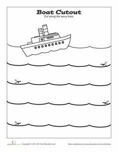 Worksheets: Cutting Worksheet: Boat