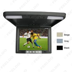10.4 Inch Roof Mounted TFT LCD Monitor 2-Way Video Input Flip Down Car Monitor 3-Color For Choice #FD-1283