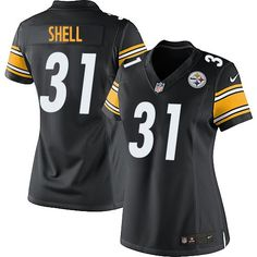 bd0a600d2 Nike Limited Donnie Shell Black Women s Jersey - Pittsburgh Steelers  31  NFL Home Pittsburgh Steelers