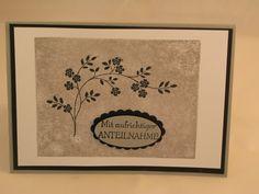 Stampin mit Scraproomboom, Trauekarte, In Gedanken bei dir