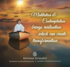 Meditation is the silent time spend for creating self awareness and purifying the consciousness. Rajyoga Meditation, Meditation Benefits, Meditation Quotes, Daily Quotes, Life Quotes, Brahma Kumaris, Self Care Bullet Journal, Om Shanti Om, Latin Words