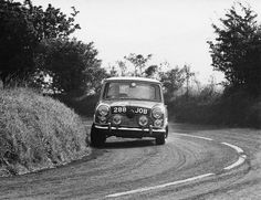 1965 .. Paddy Hopkirk's Cooper on the Craigantlet hillclimb