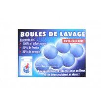 6 boules de lavage Anticalcaires
