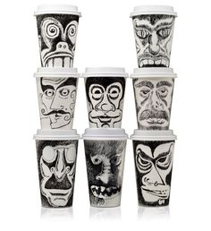 Coffee Cup Face Art - The Dieline - The #1 Package Design Website -