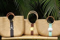 Hobe Sound Extra Large Half Moon Straw Bag--great choice for a tropical vacation, cruise or destination wedding! Hobe Sound, Straw Handbags, Straw Bag, Destination Wedding, Coastal, Cruise, Reusable Tote Bags, Basket, Tropical