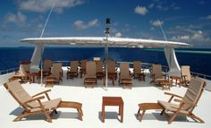 top deck outdoor patio on the yacht..  http://travelholidayclub.com