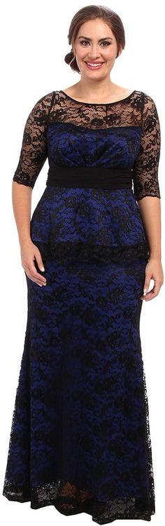 Kiyonna Astoria Lace Peplum Gown on shopstyle.com