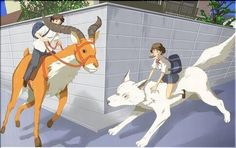 The girl who leaped though time, Studio Ghibli cross over :) Studio Ghibli Art, Studio Ghibli Movies, Shadow Of The Colossus, Film Studio, Howls Moving Castle, Hayao Miyazaki, Manga Pictures, Cute Illustration, Totoro