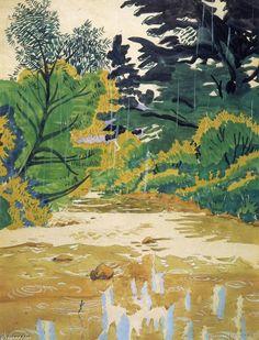 Gouttes de pluie (alias Bedford Glens - Blue Vista), dessin de Charles Ephraim Burchfield (1893-1967, United States)
