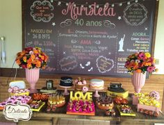 Chalkboard Painel Aniversário (arte) | Delicato Artes e Idéias | Elo7