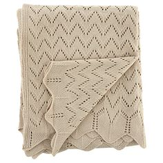 George Home Natural Vintage Knit Throw