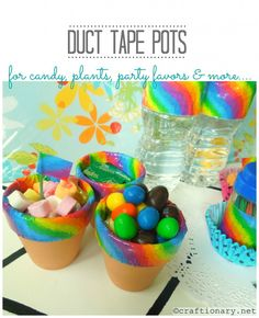 Duct tape party decor