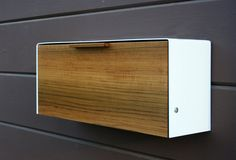 Modern Mailbox Teak and Stainless Steel Mailbox by CeCeWorks