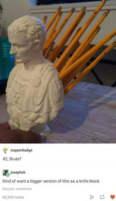 Julius Caesar Pencil Holder Cool Pingrace Michelle On Spare Laughs  Pinterest Design Inspiration