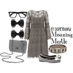 """""""Moaning Mertle"""" by lalakay on Polyvore :: correction from a loyal fan--> MYrtle not mertle"""