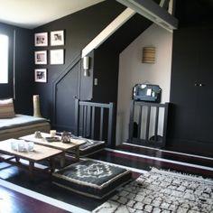Monday's Masterpiece – Parisienne chic Le Roch Hotel, Bali House, Parisienne Chic, Inside Home, Dark Walls, Piece A Vivre, Black Furniture, Guest Suite, Black Decor