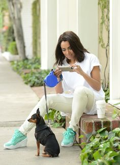 """In Between Vampire Diaries and Docu-Series Shoots, Kat Graham Enjoys Strolling With Her Dog 