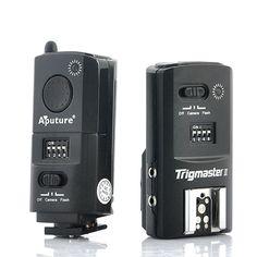 "2.4GHz Flash Trigger + Camera Shutter ""Aputure Trigmaster II"" - For Canon DSLR Camera, Radio Remote Strobe Flash + Speedlight"