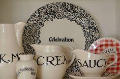 Emma Bridgewater Black Wallpaper Personalised Cake Plate 2014