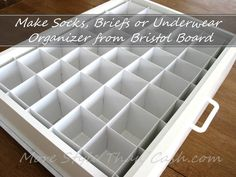 How to make a socks organizer from Bristol board