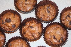 Chocolate Chunk and Caramel Brownie Cups.  From JulieBakes.blogspot.com
