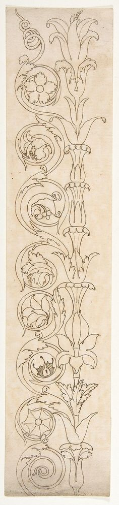 Ornamental drawings, French, 16th century, anonymous...Searching for ideas on re-framing some prints and found 'The Met' website.  Got lost in these amazing, historical, drawings and elevations and found myself revisiting my ever ambiguous desires and ideas for a tattoo. Have always known I wanted something like this, but have never found such a wonderful resource for ideas!!! MUST RETURN.: