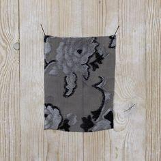 Silk Velvet Floral Devore - Stone
