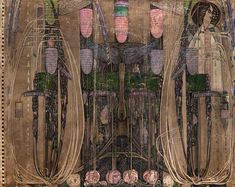 Wall Panel for the Dug-Out (Willow Tea Rooms, Glasgow) - left. Charles Rennie Mackintosh