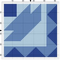 4 Free Needlepoint Patterns from Popular Quilt Blocks-Collection 3: Ships of Maine Needlepoint Quilt Block Coaster Design