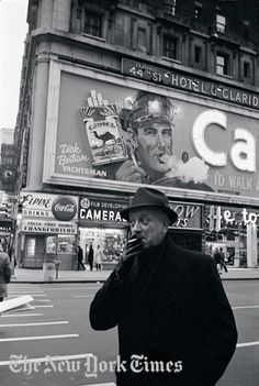 Camel Sign in Times Square, 1964.    One of the most enduring images of Times Square is the Camel Man, who blew smoke rings around the clock for decades from a billboard mounted on the Claridge Hotel on Broadway between 43rd and 44th Streets.