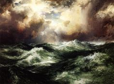 Thomas Moran, Moonlit Seascape