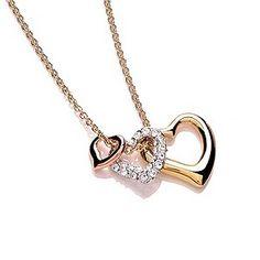 H Samuel- Buckley Three Colour Crystal Set Triple Heart Pendant - Product number 1396129 #rosegold #heartofrosegold #Hsamuel