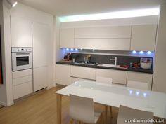 Cucina moderna Sfera con gola curva e pensile elettrico - DIOTTI A&F Arredamenti