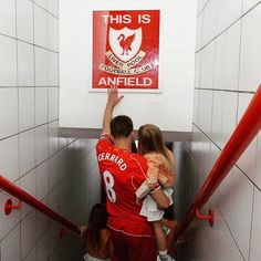 Steven Gerrard of Liverpool touches the famous sign before the Barclays Premier League match between Liverpool and Crystal Palace at Anfield (Photo by John Powell/Liverpool FC via Getty Images) Steven Gerrard Liverpool, Liverpool Fc, Liverpool Captain, Liverpool Players, Liverpool Football Club, Aberdeen Football, Alex Gerrard, Liverpool Legends, Liverpool History