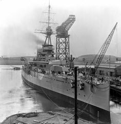 HMS Tiger (during fit out).