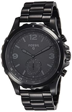 Women's Smartwatches - Fossil Q Nate Gen 2 Hybrid Black IP Stainless Steel Smartwatch * Want to know more, click on the image. (This is an Amazon affiliate link)